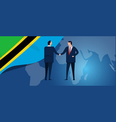 tanzania international partnership diplomacy vector image