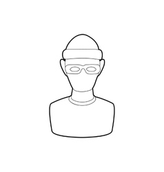 Theft icon in outline style vector image