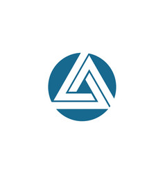 Triangle logo template icon vector