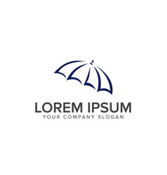 Umbrella logo design concept template vector