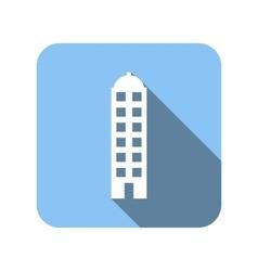 Unique house flat icon vector image
