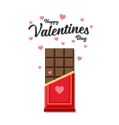 Valentines day chocolate bar vector