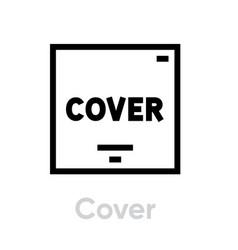 vinyl cover icon vector image