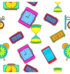 Watch pattern cartoon style vector