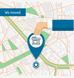 we are moved changed address moving concept vector image