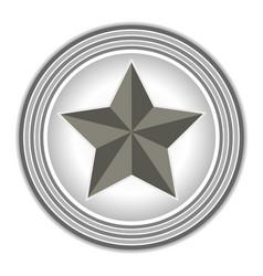 american symbol the star rings grey vector image vector image