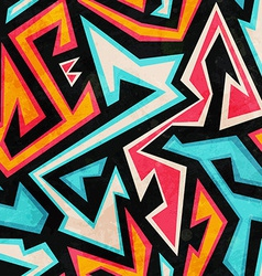 graffiti seamless pattern with grunge effect vector image vector image
