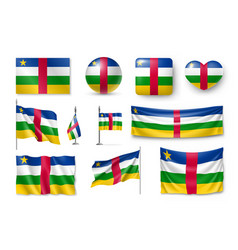 set central african republic flags banners vector image