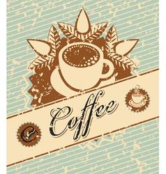 coffee retro vector image vector image