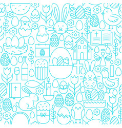 easter line seamless white pattern vector image vector image