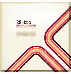 retro card vector image