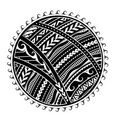 Tribal tattoo in maori style vector