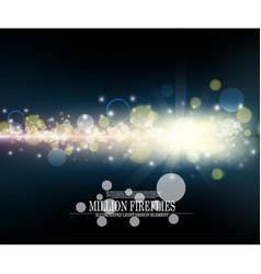 abstract million fireflies dark blue bokeh vector image