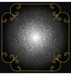 Cover Card or background in black vector image