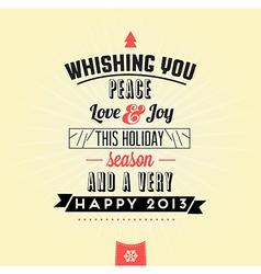 352Retro Vintage Merry Christmas Tin Sign vector image vector image