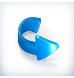 Blue right arrow vector image vector image