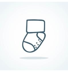 Little socks icon children theme vector