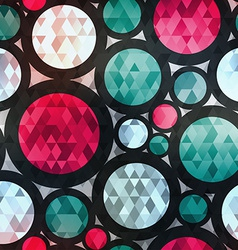retro circle seamless texture with diamond effect vector image