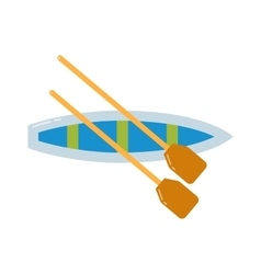 Rowing sports vector image