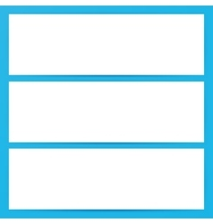 Three Horizontal Banners Empty Mockup vector image