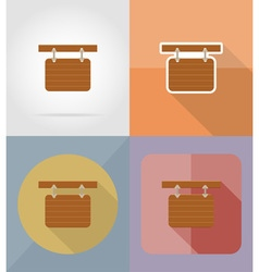 wooden board flat icons 15 vector image vector image