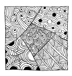 Zentangle ornament sketch for your design vector image vector image
