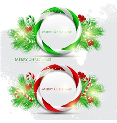 abstract glossy speech bubble with christmas candy vector image