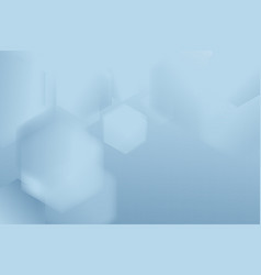 abstract soft blue hexagons geometric shape vector image