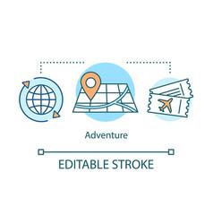 Adventure concept icon vector