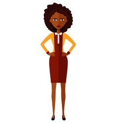 African american worried woman angry lady vector