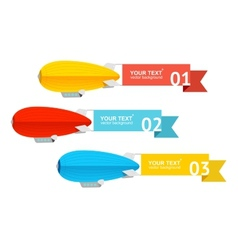 Airship card for your text vector