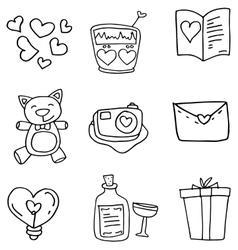 Art love doodles vector