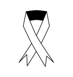 awareness ribbon icon image vector image