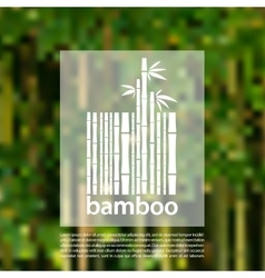 Bamboo logo on a blurred background design vector
