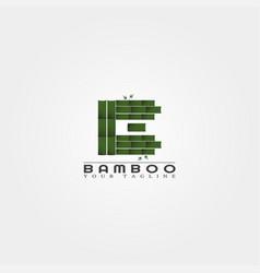 Bamboo logo template creative design for business vector
