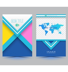 Brochure design template flyer layout magazine vector