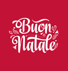 Buon natale christmas template vector