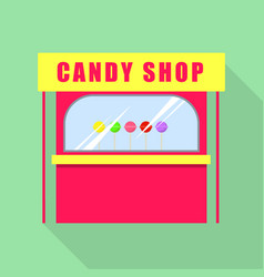 Candy shop icon flat style vector