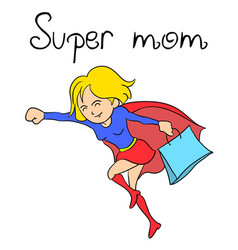 Character super mother collection vector