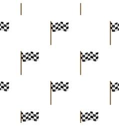 Checkered flag icon cartoon Single sport icon vector