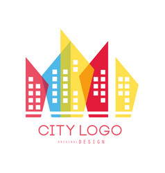 city logo original design of modern real estate vector image