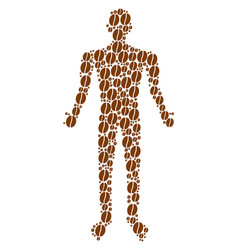 coffee bean person figure vector image