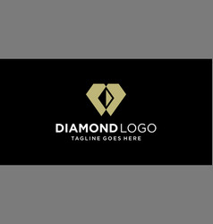 creative diamond logo design inspiration vector image