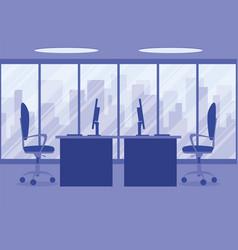 design of a modern office designer workplace in vector image