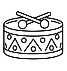 Drums toy icon outline style vector