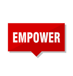 Empower red tag vector