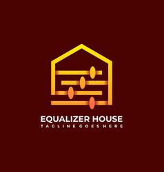 equalizer home design template vector image