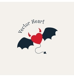 Evil Horned Heart vector image