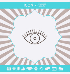 eye icon - line concept graphic elements for your vector image