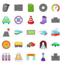 fix the road icons set isometric style vector image